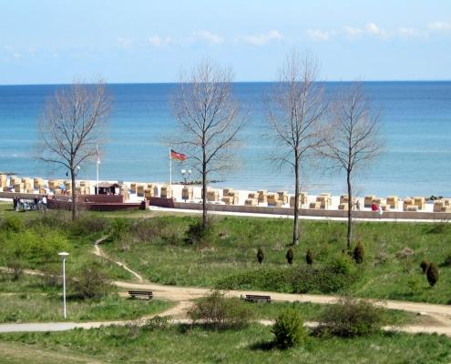 Blick auf den Strand Grömitz / Ostsee